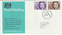 1973-11-14 Royal Wedding Stamps Bureau FDC (55027)
