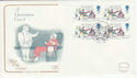 1993-11-09 Christmas Booklet Stamps Chatham FDC (55088)