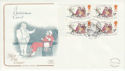 1993-11-09 Christmas Booklet Stamps Chatham FDC (55089)