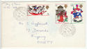 1968-11-25 Christmas Stamps Ossett Yorkshire cds FDC (55236)