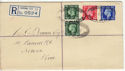 1937-05-10 KGVI Definitive Sidcup Registered FDC (55297)