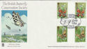1981-05-13 Butterflies Stamps Gutters Quorn FDC (55384)