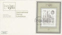 1980-05-07 London Stamp Exhibition M/S London SW FDC (55419)