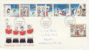 1973-11-28 Christmas Stamps Huddersfield FDI (55450)