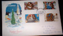 1974-11-27 Christmas Stamps Huddersfield FDI (55463)