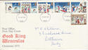 1973-11-28 Christmas Stamps Derby FDI (55486)