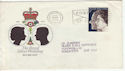 1972-11-20 Royal Wedding Liverpool Slogan FDC (55488)