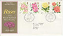 1976-06-30 Roses Stamps Bureau FDC (55792)