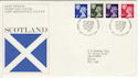 1974-01-23 Scotland Definitive Stamps Edinburgh FDC (55832)