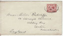 1912-24 King George V 1½d used on envelope (55852)