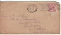 1912-24 King George V 1½d used on envelope (55853)