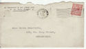1912-24 King George V 1½d used on envelope (55856)