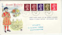 1969-08-27 Definitive Coil Stamps Southampton cds FDC (55883)