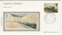 1985-01-22 Trains Golden Arrow Silk FDC (55887)