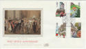 1985-07-30 Post Office Anniv Intelpost Silk FDC (56027)
