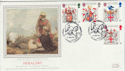 1984-01-17 Heraldry Stamps Tintagel Silk FDC (56040)