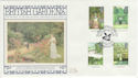 1983-08-24 British Gardens Sissinghurst Silk FDC (56042)