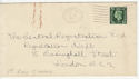 1937-05-11 KGVI ½d on cover no surcharge (56122)