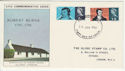 1966-01-25 Robert Burns Stamps London WC FDC (56152)