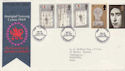 1969-07-01 Investiture Stamps Caernarvon FDC (56336)