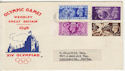1948-07-29 KGVI Olympic Games Wembley Slogan FDC (56456)