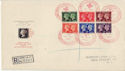 1940-05-06 KGVI Centenary Stamps used on 14th SOUV (56549)