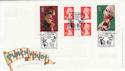 2001-09-04 Punch and Judy S/A Bklt London FDC (56557)