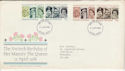 1986-04-21 Queen's 60th Birthday Stamps FDC [Faded] (56584)