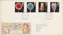 1987-01-20 Flowers Stamps FDC [Faded] (56609)