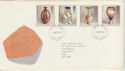 1987-10-13 Studio Pottery Stamps FDC [Faded] (56613)