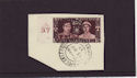 1937-05-13 KGVI Coronation A37 Control on Piece FDC (56636)