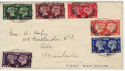 1940-05-06 KGVI Centenary Stamps Manchester cds FDC (56638)