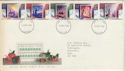 1988-11-15 Christmas Stamps FDC [Faded] (56656)