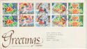 1989-01-31 Greetings Stamps FDC [Faded] (56657)