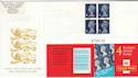 2000-04-27 HF1 Re-Issued Booklet Stamps Gatwick FDC (56695)