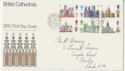 1969-05-28 Cathedrals Stamps Lords SW1 cds FDC (56777)
