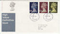 1977-02-02 Definitive High Values Windsor FDC (56814)
