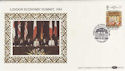 1984-06-05 London Economic Summit Silk FDC (56830)