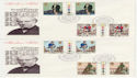 1979-08-22 Rowland Hill T/L Gutters London x2 FDC (56840)