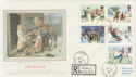 1990-11-13 Christmas Stamps Noel Rd Acton cds FDC (57130)