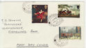 1967-07-10 British Paintings Stamps Fishguard cds FDC (57156)