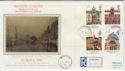 1990-03-06 Europa Buildings Stamps Warriston cds FDC (57184)