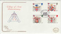 1984-01-17 Heraldry Stamps London WC1 FDC (57216)