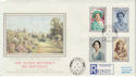 1990-08-02 Queen Mother 90th Stamps Whitwell cds FDC (57238)