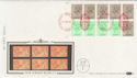 1983-04-05 1.46p Booklet Stamps NPM London EC1 FDC (57400)