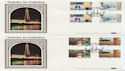 1986-01-14 Industry Year Gutters Blackpool x2 FDC (57432)