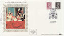 1984-02-21 Definitive 5p 75p Perf Change London SW1 FDC (57524)
