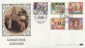 1986-11-18 Christmas Stamps St Margarets SW1 FDC (57550)