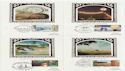1986-01-14 Industry Year Silk Cards x4 FDC (57594)