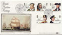 1982-06-16 Maritime Heritage Portsmouth Silk FDC (57613)